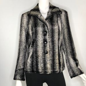 Chico's Soft Faux Fur Lined Jacket